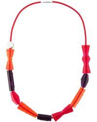 Pleats Please Issey Miyake - Geometric Shape Necklace - Lyst