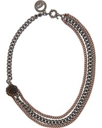 Giles & Brother Shell Station Bronze And Gunmetal-Tone Chain Necklace - Lyst