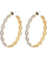Juicy Couture - Pave Link Hoop Earrings - Lyst