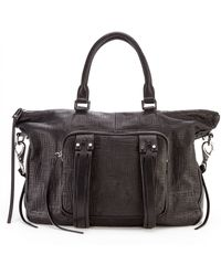 She + Lo | Next Chapter Perforated Leather Mini Satchel | Lyst