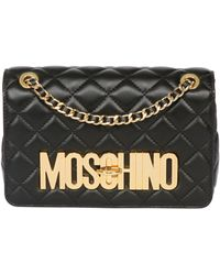 Moschino Quilted Leather Shoulder Bag - Lyst