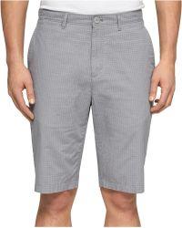Calvin Klein Gray Micro-Check Shorts - Lyst