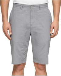 Calvin Klein Micro-Check Shorts - Lyst