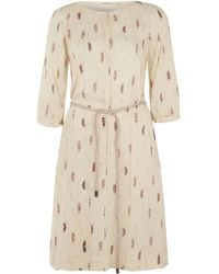 Sessun - Cream O Che Che Belt Ikat Print Dress - Lyst