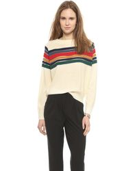 Band of Outsiders - Contrast Stripe Raglan Sweater - Lyst