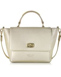Versace Jeans Small Embossed Eco Leather Tote W/Shoulder Strap - Lyst
