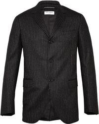 Saint Laurent  Short Boxy Fit 3 Button Flannel Jacket - Lyst