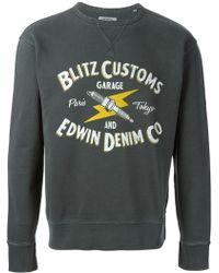 Edwin Crew Neck Printed Sweatshirt - Lyst