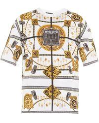 Versace Home-Print Cotton-Jersey T-Shirt - Lyst