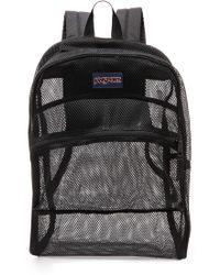 Jansport Mesh Backpack  Black - Lyst
