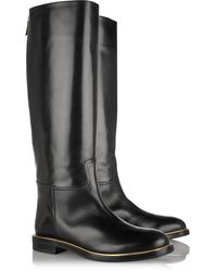 Casadei Leather Knee Boots - Lyst