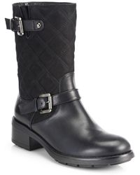 Aquatalia by Marvin K Sherry Midcalf Leather Moto Boots - Lyst