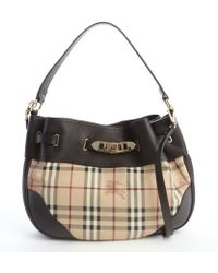 Burberry Chocolate Check Coated Canvas Convertible Shoulder Bag - Lyst