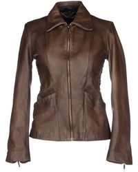 Costume National Jacket brown - Lyst