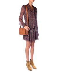 Saint Laurent Paisley-print Chiffon Dress - Lyst