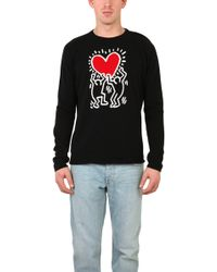 Lucien Pellat Finet Cashmere Keith Haring Sweater - Lyst