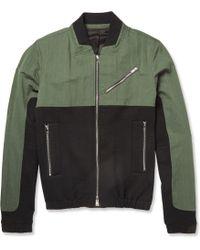 Tim Coppens - Panelled Cotton-Blend Bomber Jacket - Lyst