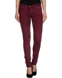 Cheap Monday Denim Trousers red - Lyst
