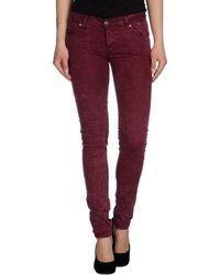 Cheap Monday Denim Trousers purple - Lyst