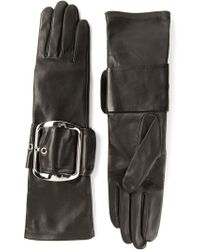 Givenchy Chunky Buckle Gloves - Lyst