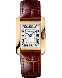 Cartier Tank Anglaise 18ct Pinkgold Small Watch - Lyst
