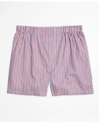 Brooks Brothers   Slim Fit Micro Check Boxers   Lyst