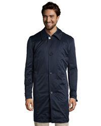 Hugo Boss Navy Cotton Blend 'The Fern2' Three Quarter Coat - Lyst