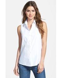 Foxcroft Sleeveless Cotton Shirt - Lyst