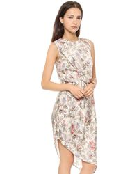 Zimmermann Racer Asymmetrical Draped Dress Paisley - Lyst