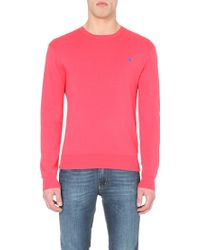 Ralph Lauren Logo-Embroidered Knitted Jumper - For Men - Lyst