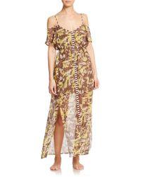 OndadeMar Wild Silk Long Dress - Lyst