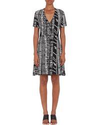 Proenza Schouler Woodcut Block-print Fit  Flare Dress - Lyst