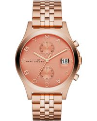 Marc By Marc Jacobs Slim Chrono Rose Goldtone Stainless Steel Chronograph Bracelet Watch/Peach - Lyst