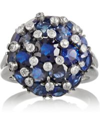 Fred Leighton - 1940S Platinum, Sapphire And Diamond Ring - Lyst