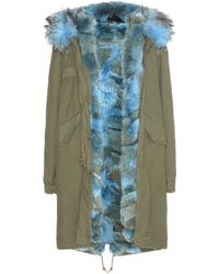 Mr & Mrs Furs Fur-Lined Parka With Fur-Trimmed Hood - Lyst