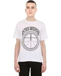 Astrid Andersen Logo Printed Cotton Tshirt - Lyst