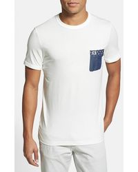 Fred Perry 'Drake'S London - Paisley Print' Slim Fit Chest Pocket T-Shirt - Lyst