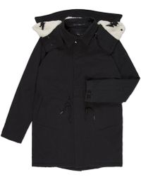 Paul Smith Black Boiled Oxford Hooded Mac - Lyst