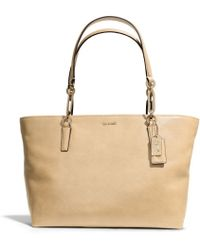 Coach Madison Eastwest Tote in Leather - Lyst