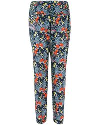 Marc By Marc Jacobs - Black Maddy Floral Print Silk Tapered Trousers - Lyst