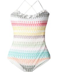 Missoni Crochet Swimsuit - Lyst