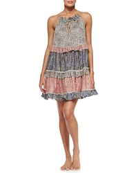 Zimmermann Roamer Tiered Cupcake Dress Coverup - Lyst