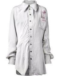 Vivienne Westwood Gray Anarchy Shirt - Lyst