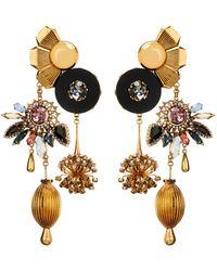 Vickisarge - Sylvia Crystal Charm Earrings - Lyst