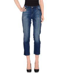 Paige Denim Pants blue - Lyst