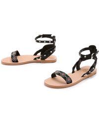 Ash Pearl Beaded Sandals - Black/Black - Lyst