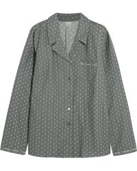 CALVIN KLEIN 205W39NYC - - Printed Cotton-flannel Pyjama Shirt - Anthracite - Lyst