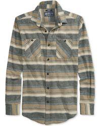 American Rag Striped Flannel Shirt - Lyst