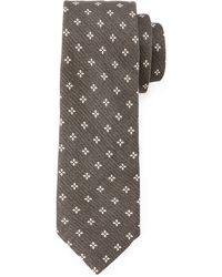 John Varvatos Diamond Pattern Woven Tie - Lyst