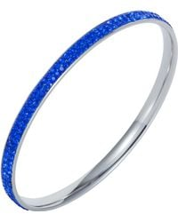 Aurora Flash - Stainless Steel Cubic Zirconia Sapphire Bangle - Lyst